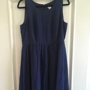 J Crew Navy Blue Midi Dress